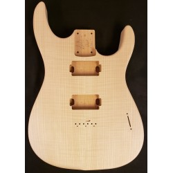 Alder/Flame Maple Custom Dinky S 24 Fret Guitar Body