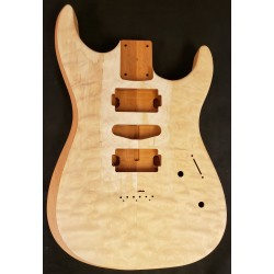 Quilt Maple/Mahogany Strat body