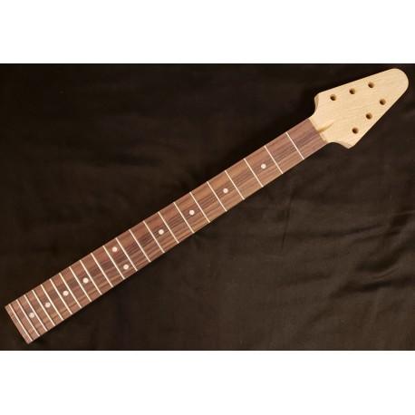 White Korina/Rosewood V Guitar Neck