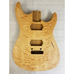 Quilted Maple/Roasted Basswood Dinky S Guitar Body