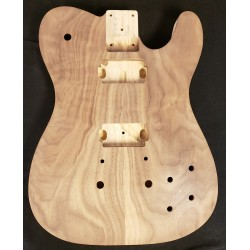 Walnut/Swamp Ash Carved Top T Guitar Body