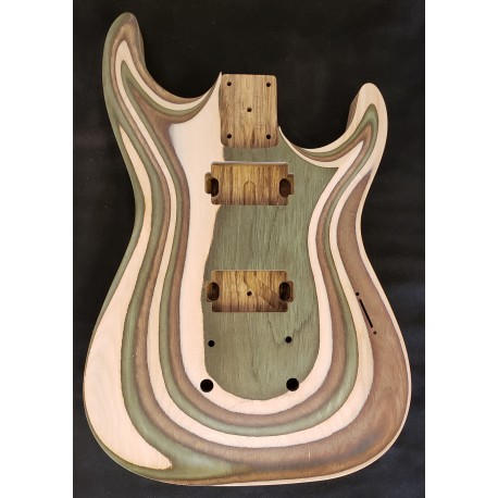 Spectra Wood/Black Limba Dinky Strat Carved top Body
