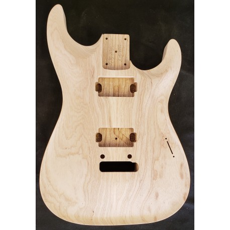 Swamp Ash Chambered Dinky Strat Carved top Body
