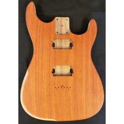 Padouk/Walnut Dinky S Guitar Body