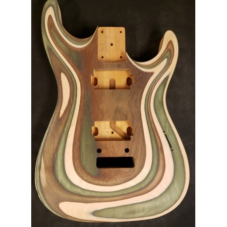 Spectra Wood/Mahogany Dinky Strat Carved Top Body
