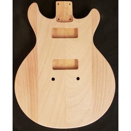 Mahogany LPS Flattop Guitar Body