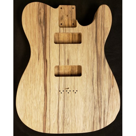 Black Korina Tele Thinline Guitar Body